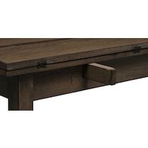 jacob dark brown sofa table
