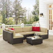 jacques brown sand outdoor sectional set