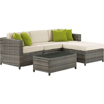 jacques gray cream outdoor sectional set