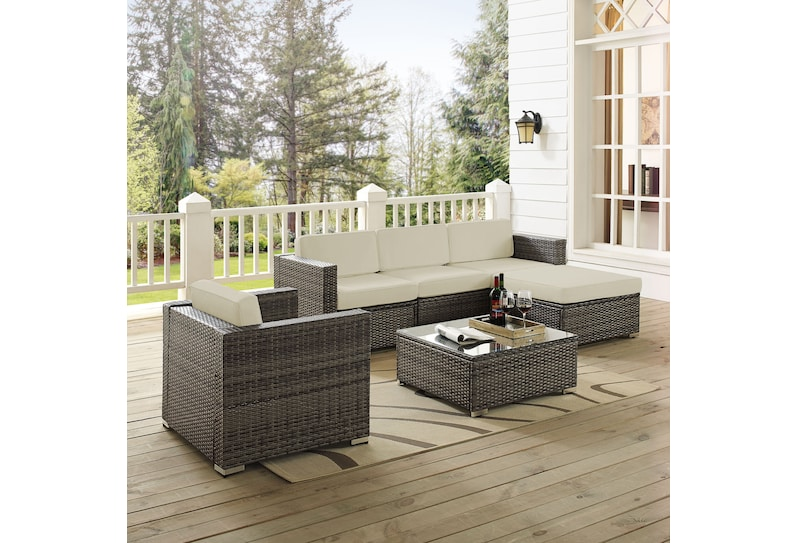 jacques gray outdoor sectional set
