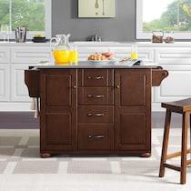 jake dark brown kitchen island