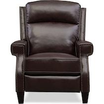 james dark brown manual recliner