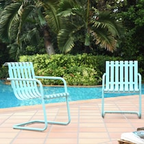 janie blue outdoor chair set
