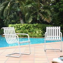 janie white outdoor chair
