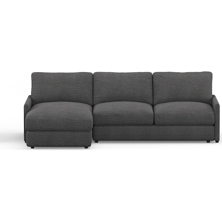 Jasper Hybrid Comfort 2-Piece Sectional with Left-Facing Chaise - Curious Charcoal
