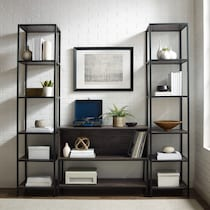 jerry dark brown entertainment wall unit