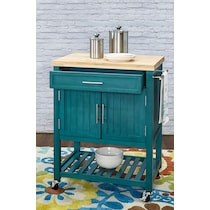 jolene blue kitchen cart