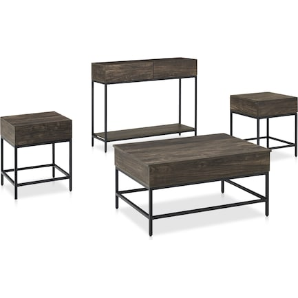 Kaplan 4-Piece Table Set with Coffee Table, Console Table and 2 End Tables