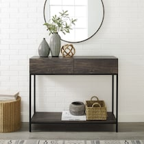 kaplan dark brown console table