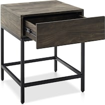 kaplan dark brown end table