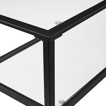 keen black console table