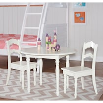 kendall white youth table w  chairs