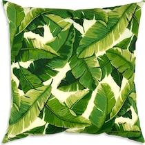 king green outdoor pillow