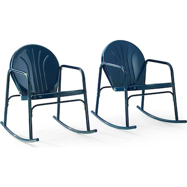 Kona Set of 2 Outdoor Rocking Chairs - Navy