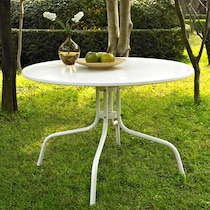 kona white outdoor dining table