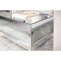 krystal silver coffee table