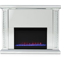 krystal silver fireplace tv stand