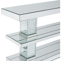 krystal silver sofa table