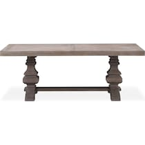 lancaster dark brown dining table