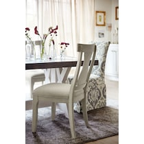 lancaster gray dining chair