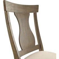 lancaster light brown dining chair