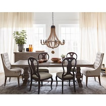 lancaster light brown dining table