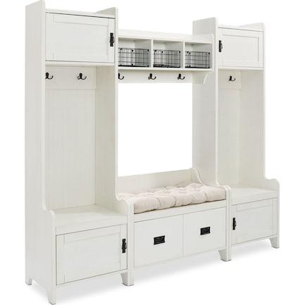 Landon 4-Piece Entryway Set - White