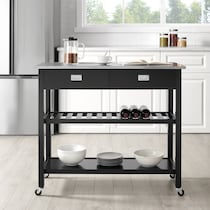 laney black kitchen cart