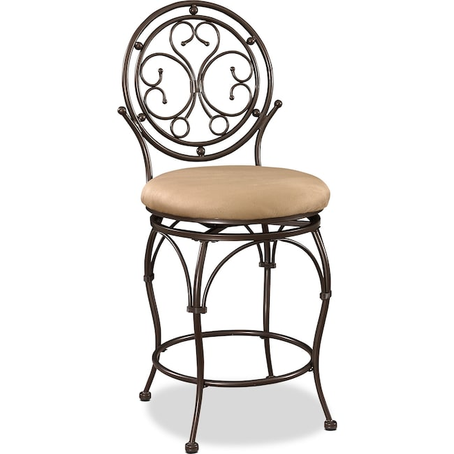Accent and Occasional Furniture - Laurel Counter-Height Stool - Bronze