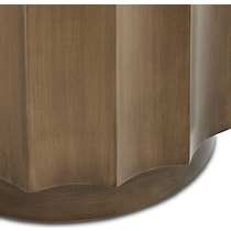 lea dark brown accent table