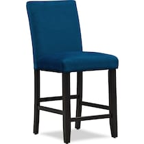 lennox blue counter height stool