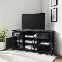 leonard black tv stand