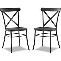 lex black dining chair