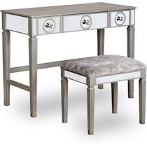 lexi silver vanity desk