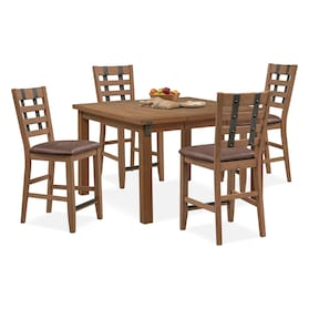 Hampton Counter-Height Dining Table and 4 Stools