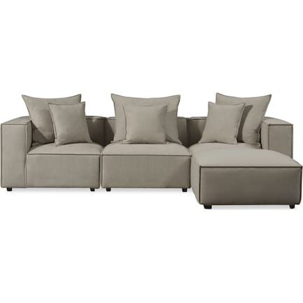 Logan 3-Piece Sectional with Ottoman