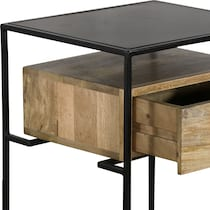 luca black and brown side table