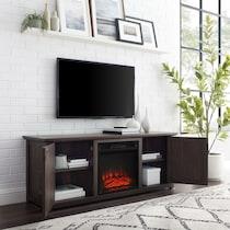 lucas dark brown fireplace tv stand