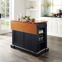 luther black kitchen island