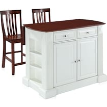 luther white kitchen island set