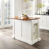 luther white kitchen island