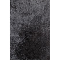 luxe charcoal charcoal area rug ' x '