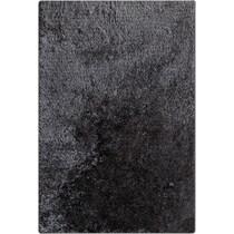 luxe charcoal charcoal area rug ' x '