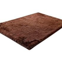 luxe chocolate dark brown area rug ' x '