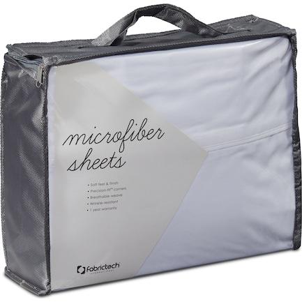 Microfiber Twin Sheet Set - White