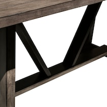 lyla dark brown dining table
