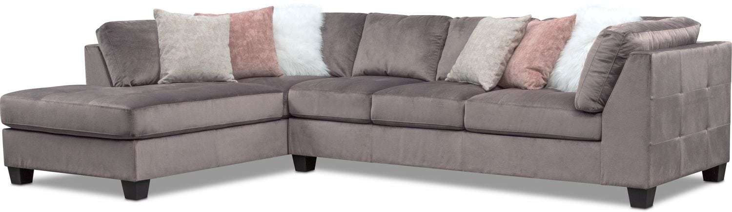 Living Room Furniture - Mackenzie 2-Piece Sectional with Chaise