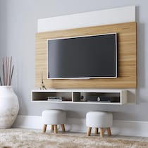 madden cinnamon off white entertainment wall unit
