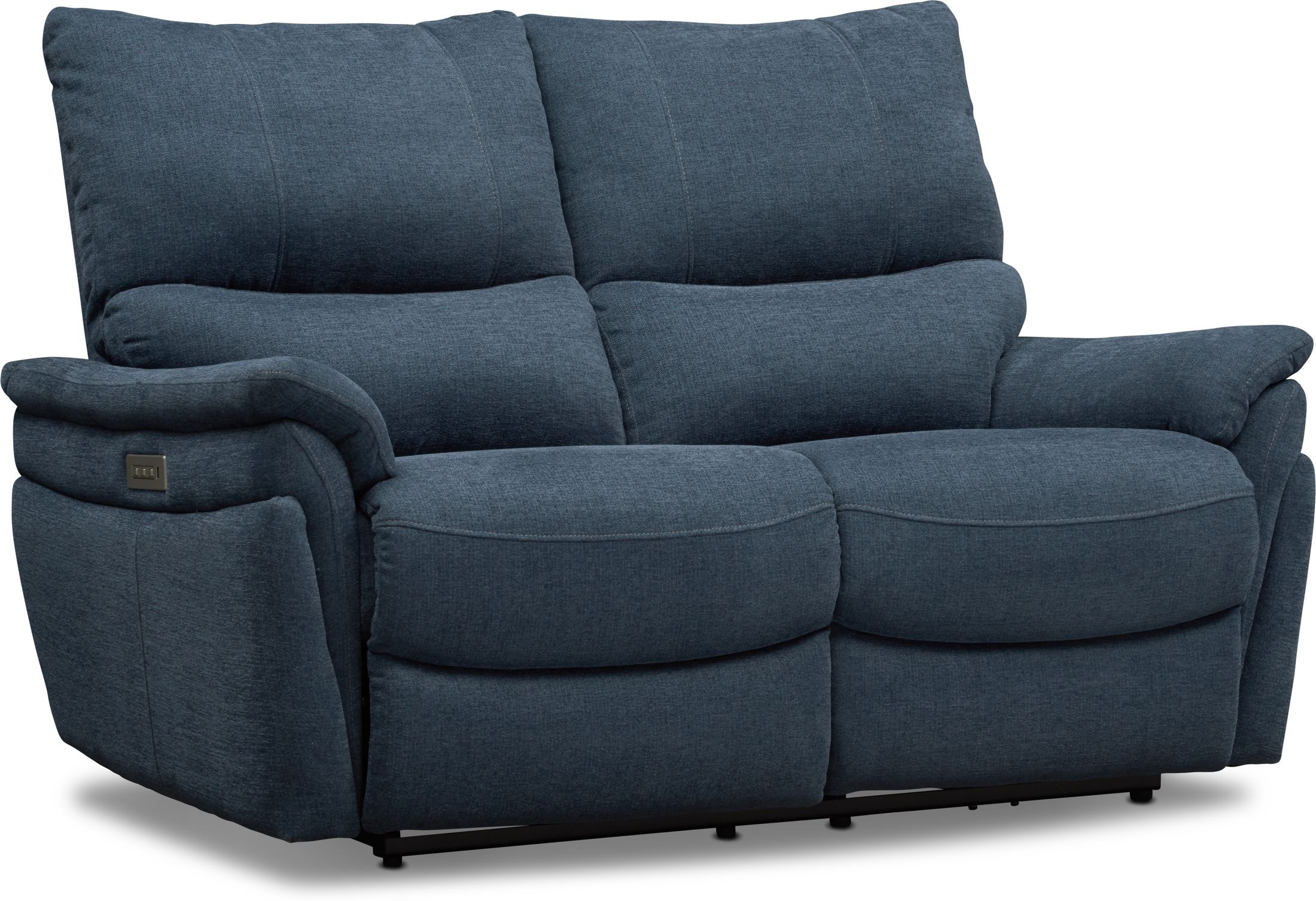 Living Room Furniture - Maddox Triple-Power Reclining Loveseat