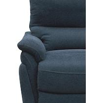 maddox blue reclining loveseat